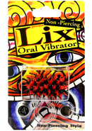 Lix Non Piercing Oral Vibrator Red Black