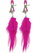 Fetish Fantasy Series Fancy Feather Nipple Clamps Pink