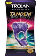 Trojan Tandem Vibrating Ring Purple