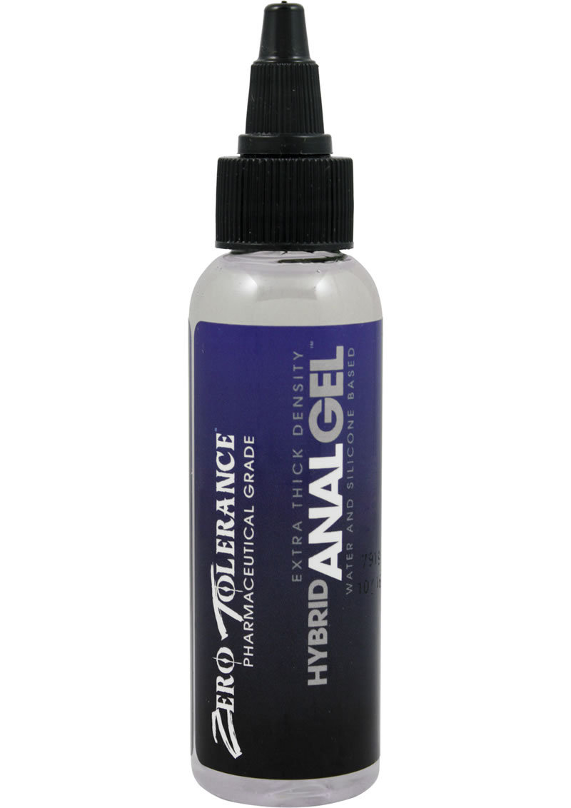 Zero Tolerance Hybrid Anal Gel Water And Silicone Base Lubricant 2 Ounce