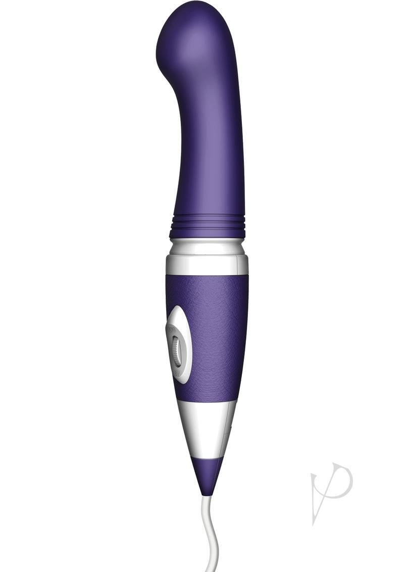 Bodywand Wand Plus G Spot 8 Power Plug-in Vibe Silicone Purple